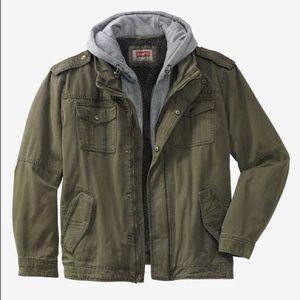 Men's Levi's Hooded Trucker Jacket Olive